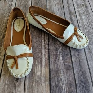 Kate Spade Libby White Patent Loafers